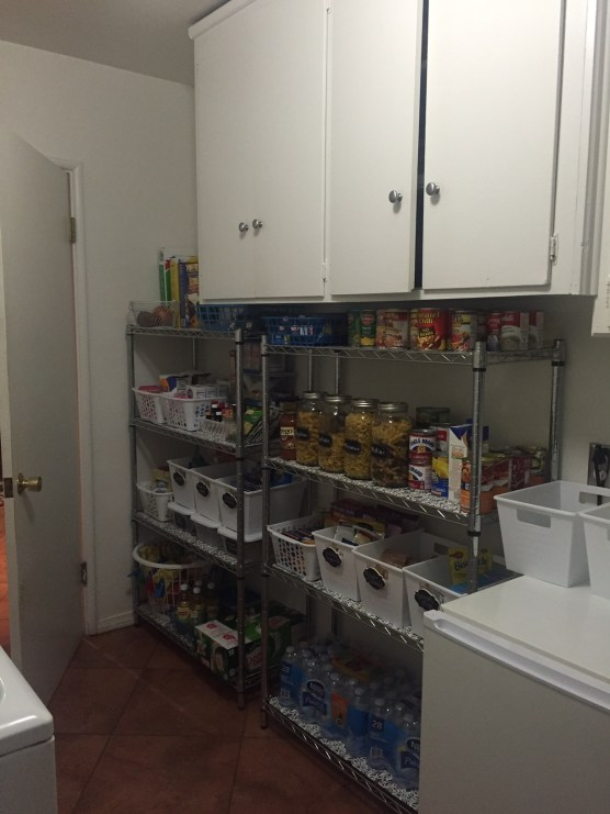 Pantry and Laundry Room Organization