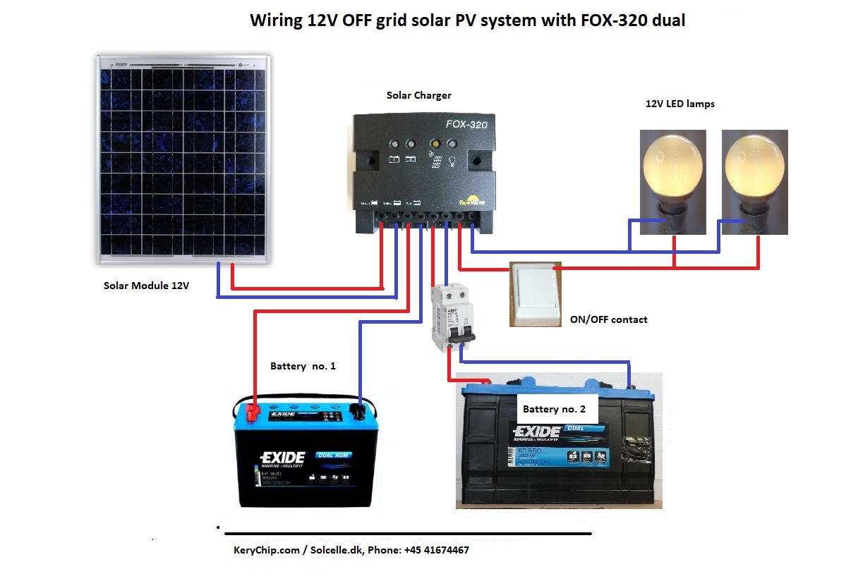 hight resolution of wiring a 12v off grid system with fox 320 dual charger