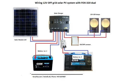 small resolution of wiring a 12v off grid system with fox 320 dual charger