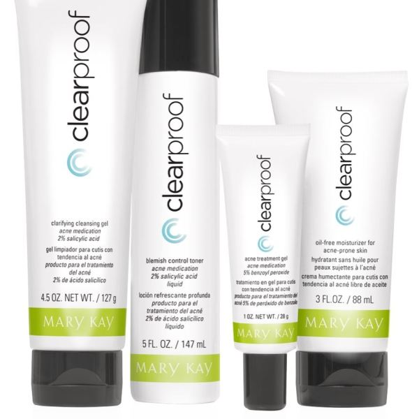 Mary Kay Clear Proof Acne System Set Of 4