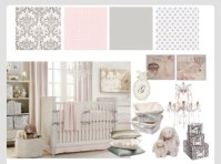 Baby girl nursery ideas - pink - grey and white theme ...