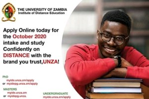 UNZA Institute of Distance Education Oct. 2020 Intake
