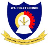 Wa Polytechnic Admission Letter 2021/2022