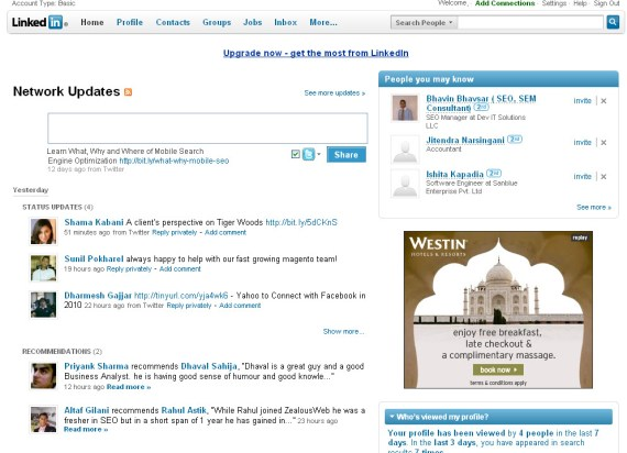 New User Interface by LinkedIn