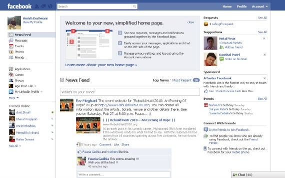 New Facebook layout