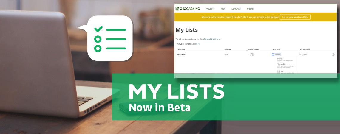 Geocaching.com představuje vylepšené seznamy keší