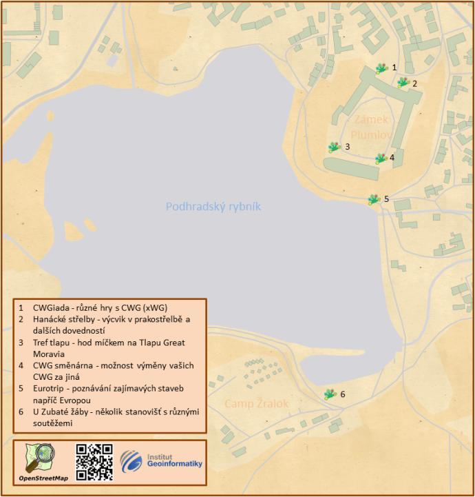 Mapka doprovodných aktivit