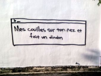 streetart francais poesie couille dindon georgetown