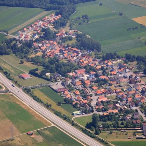 Vue Aérienne du Village de Kesseldorf
