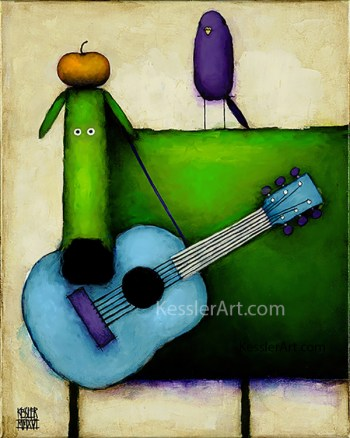 """""""Songbirds"""" original artwork"""
