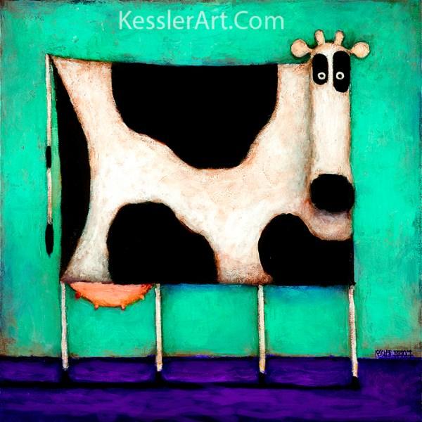 Turquoise Cow copy 4