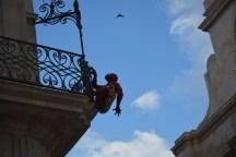 Spiderman, Piazza di duomo à Ortigia, Siracusa