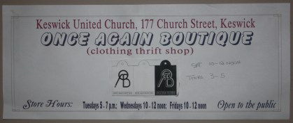Once Again boutique sign - sized