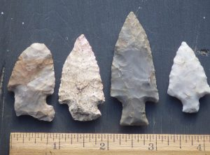Group of 4 Midwest Arrowheads