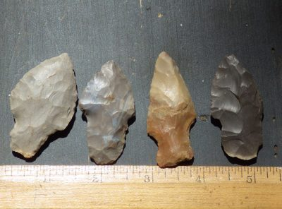 Group of 4 Nice Field Grade Arrowheads  -Reserved