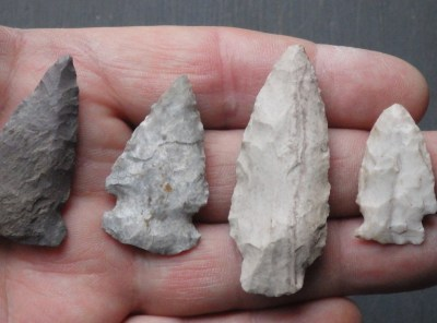 Group of Native American Indian Arrowheads