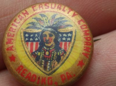 American Casualty Company Vintage Pin