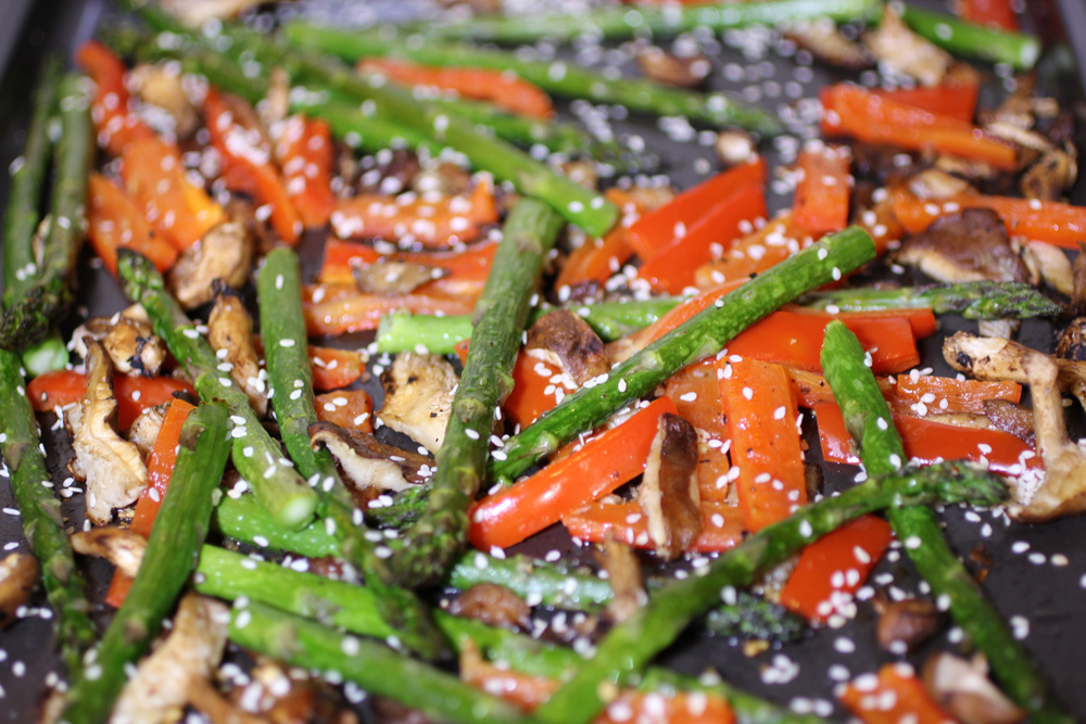 How To Cook Sesame Asparagus In The Oven
