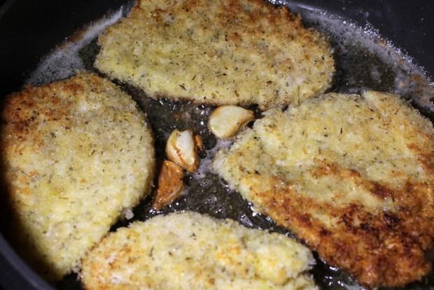 Chicken Milanese in Pan
