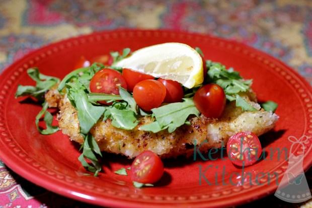 Chicken Milanese with Panko Breadcrumbs and Lemon Zest