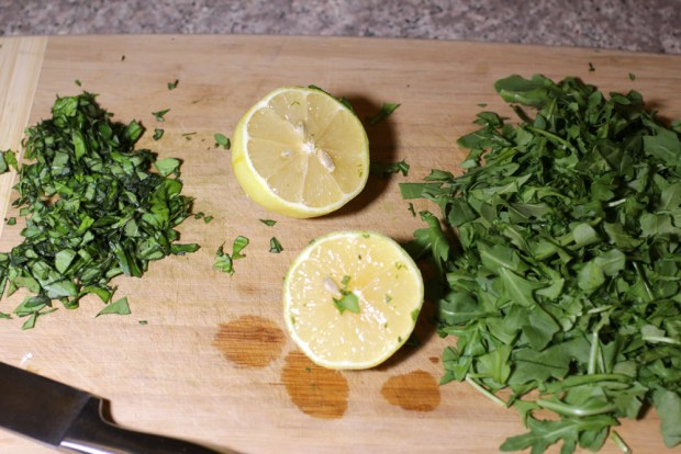 Lemon Arugula Basil