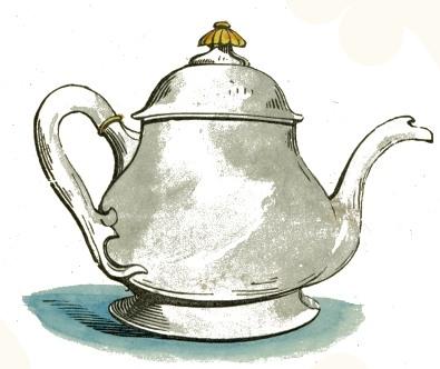 white porcelain teapot