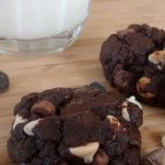 One-bowl Double Chocolate Fudge Cookies