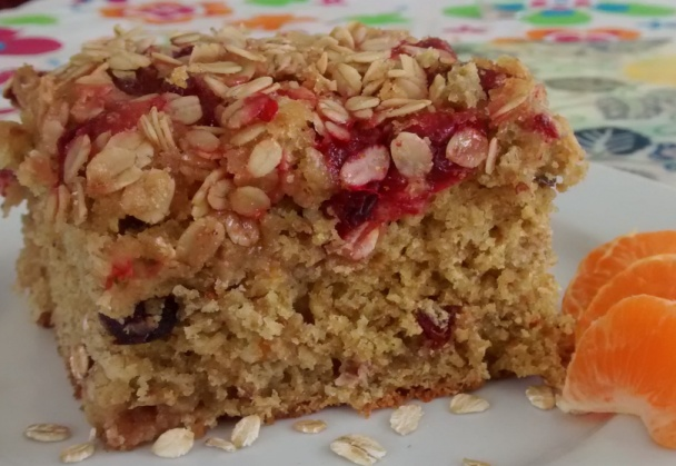 Cranberry Oatmeal Breakfast Cake