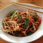 Sweet Chili Heat Peanut Noodle Salad