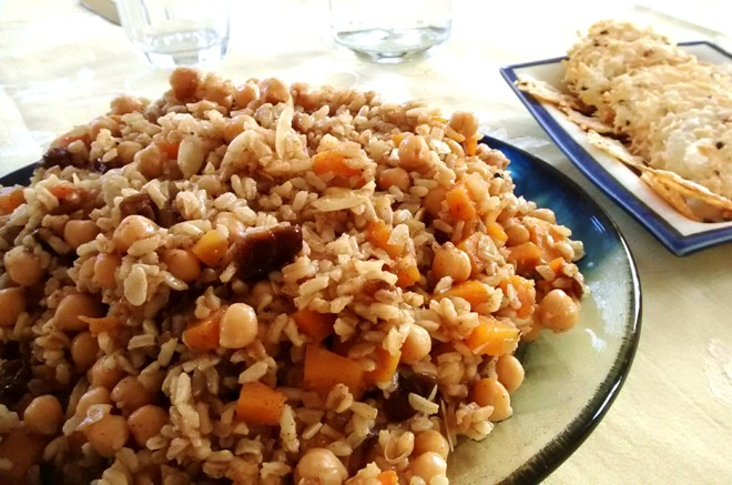 Meatless Monday Rice Salad With Chickpeas Dates And