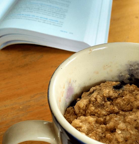 Blueberry Oatmeal Mug Muffin