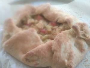 Apple rhubarb galette