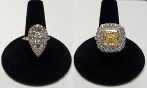 Custom Rings old mine cut and fancy yellow we buy diamonds we sell diamonds
