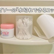 歯磨き収納ダイソー水切れできるコップ100均モノトーン小さい持ち手つき