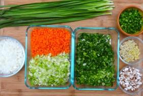 Asian Dumplings Ingredients © KETMALA'S KITCHEN 2012-13