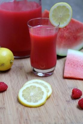 Watermelon Raspberry Lemonade from Gourmande in the Kitchen recipe © KETMALA'S KITCHEN 2012-13
