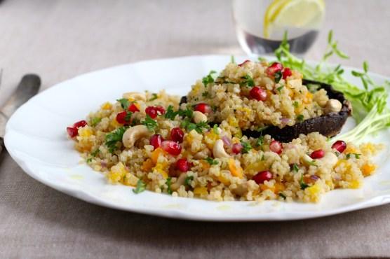 Portobello Mushroom & Jeweled Quinoa @KetmalasKitchen 2015