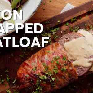 Bacon-wrapped keto meatloaf