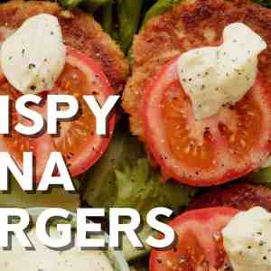 Crispy keto tuna burgers