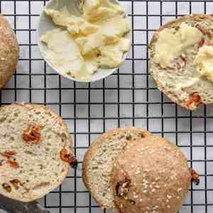 Keto Parmesan & Tomato Bread Rolls
