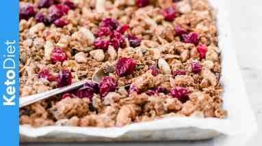 Low-Carb Cranberry Spiced Granola