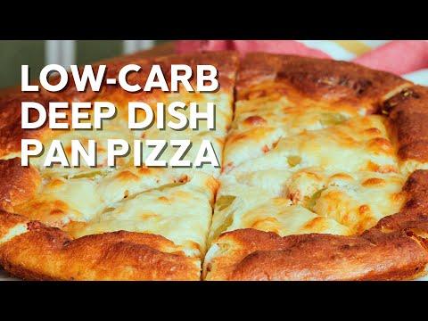 Low carb deep dish pan pizza