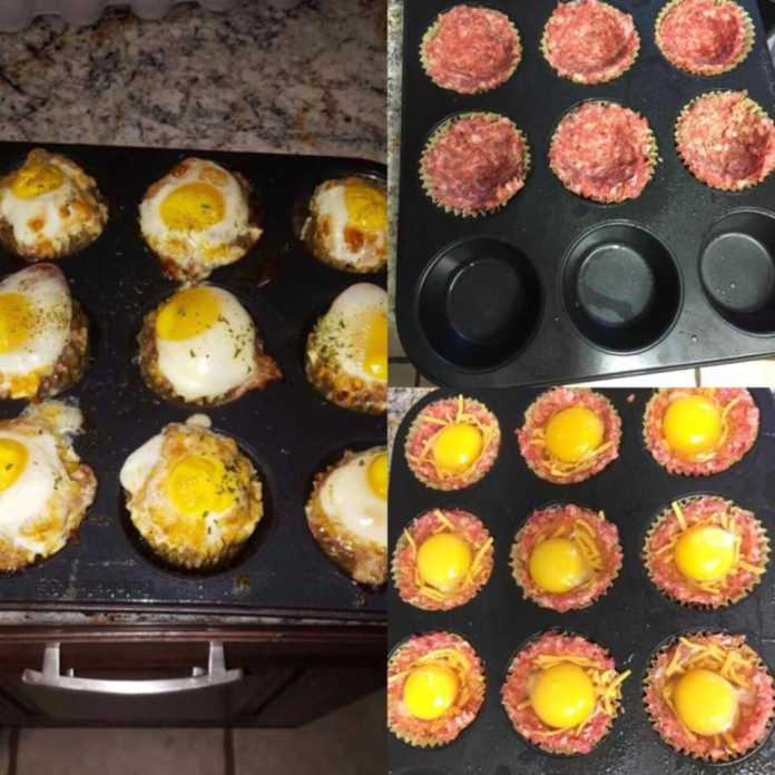 Low Carb Sausage N Egg Muffins