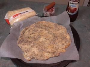 Low carb pizza prep