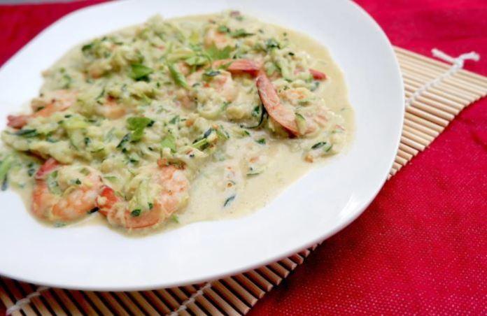 Zucchini and Shrimp Scampi
