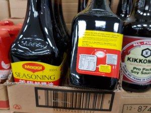 Bottles of Maggi seasoning