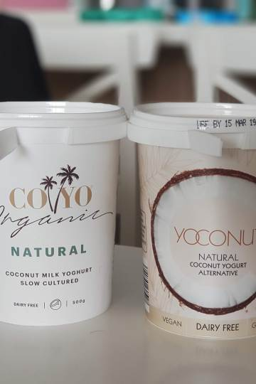 Cocoyo and Aldi Coconut Yoghurt