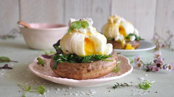 Eggs Florentine on Portobellos