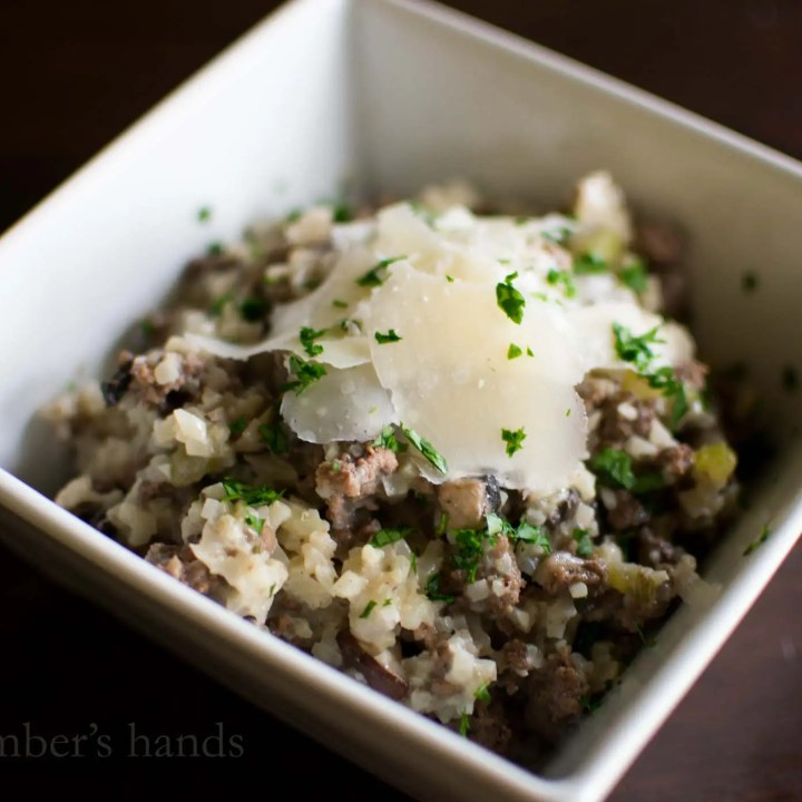 Beef and Cauliflower Rice Skillet Meal -by amber's hands-