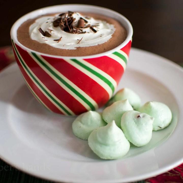 Keto Mint Chocolate Meringues
